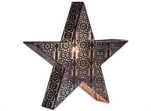 Bilde av Adventstjerne stående svart/gull 42x40