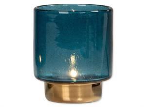 Bilde av Lysglass blå/gull 10,5x12