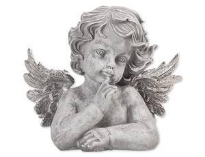 Bilde av Alba engel grå/sølv H22cm