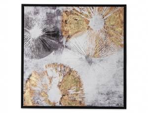 Bilde av Maleri abstrakt gull/grå 50x50
