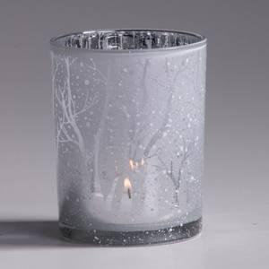 Bilde av Lysglass hvit/sølv 10x12,5