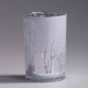 Bilde av Lysglass hvit/sølv 12x18