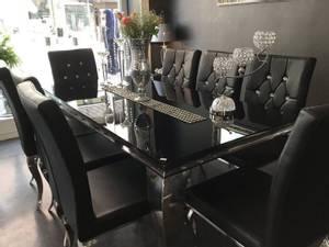 Bilde av Nydelig spisebord i svart 180c90x76 cm