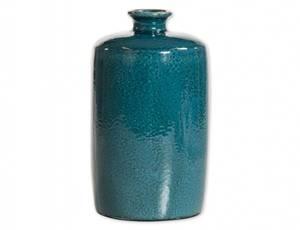 Bilde av Vase mørk turkis 18,5x31