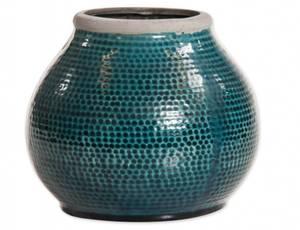 Bilde av Vase mørk turkis 22x18,5
