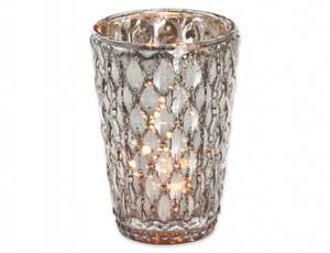 Bilde av Idun lysglass sølv 8x11