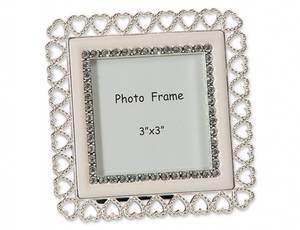 Bilde av Fotoramme hjerte sølv 7,5x7,5