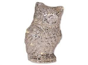 Bilde av Ugle m/led klar/sølv 11,5x19,5
