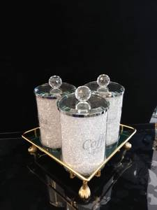 Bilde av Sett med 3 blingkrukker/ skrift og diamant
