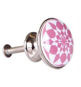 Bilde av Dørknott/knotter hvit/rosa 3x2,3