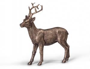 Bilde av Hjort stående gull 15x5,5x17