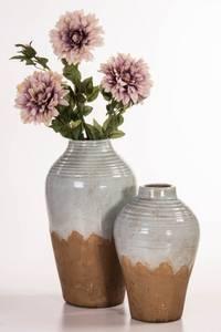 Bilde av Vase keramikk blå/brun H34,5