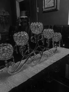 Bilde av INDIA lysestake krystall telysholder bord- 66x33