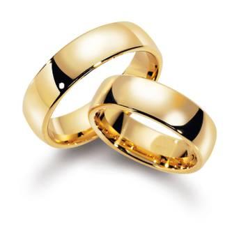 Forlovelsesringer gult gull (585