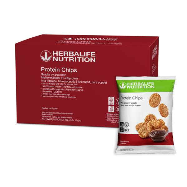 Herbalife Protein Chips - Vegansk Barbecue, 10 stk.