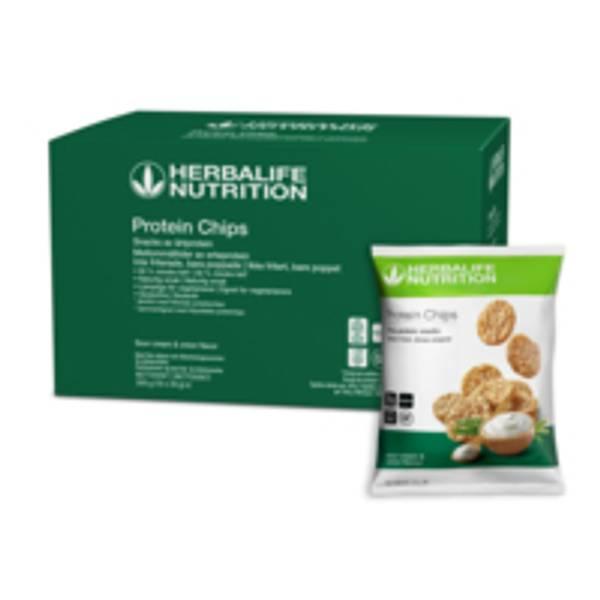 Herbalife Protein Chips - Sour Cream & Onion, 10 stk.