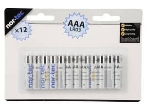 Bilde av AAA batteri alkalisk, 12 stk