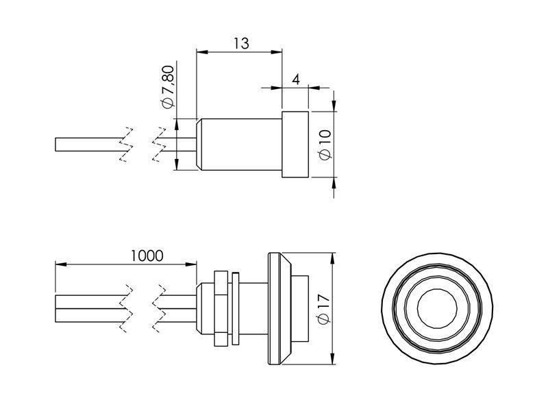 LED Spot 5mm 24V, 5 stk.