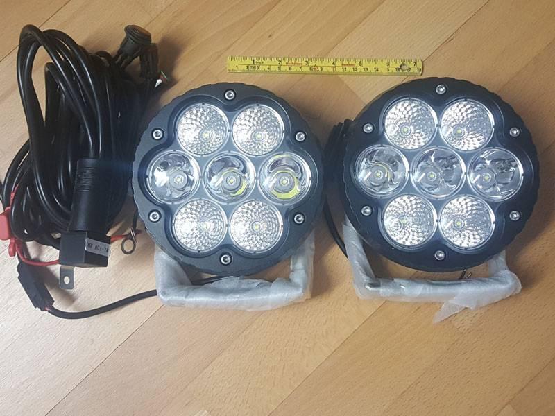 NSSC 2x 70W Combo LED ekstralys med ledningsnett