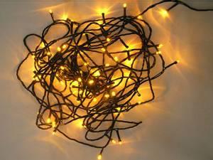 Bilde av Lyskjede med 80 LED gul, 230V