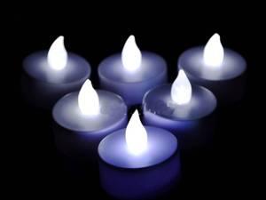Bilde av 1 stk LED T-lys - Hvitt el.