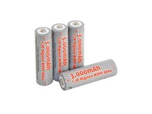 Bilde av 4 stk Oppladbare AA batterier