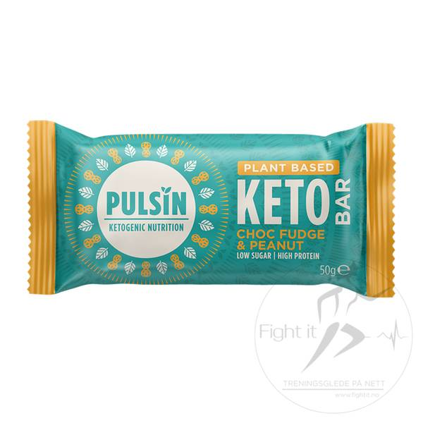 Bilde av Pulsin Keto Bar - Choc Fudge & Peanut (12x50g)