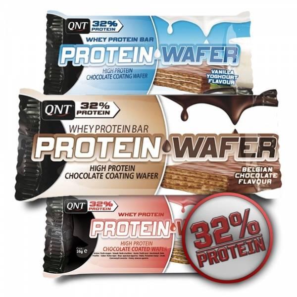 Bilde av QNT - Whey Protein Wafer - Vanilla Yoghurt Flavour 35g