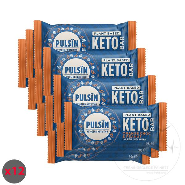 Bilde av Pulsin Keto Bar - Orange Choc & Peanut (12x50g)