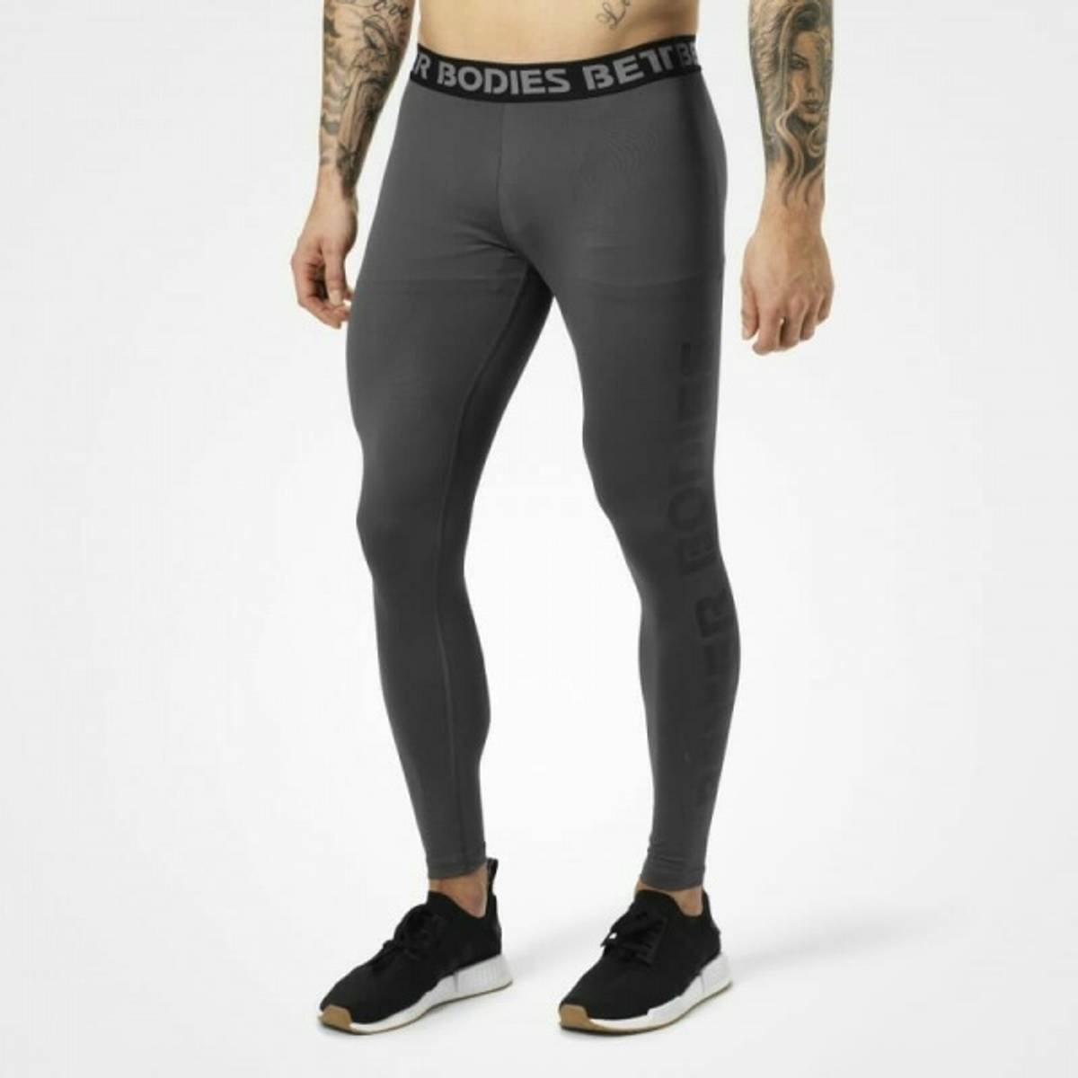 Better Bodies - Mens Logo Tights - Iron