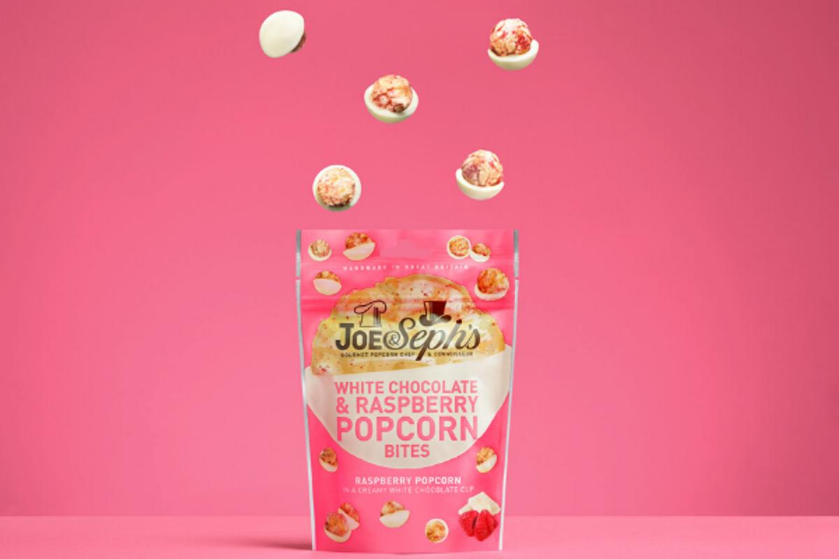 Joe & Seph`s - White Chocolate & Raspberry Popcorn (6x63g)