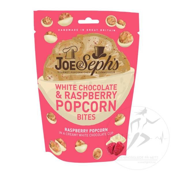 Bilde av Joe & Seph`s - White Chocolate & Raspberry Popcorn Bites 63g