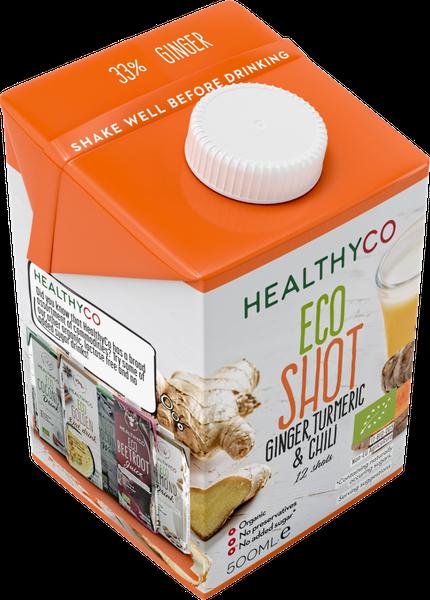 Bilde av HealthyCO - ECO Ginger, Tumeric & Chili Shot 500ml
