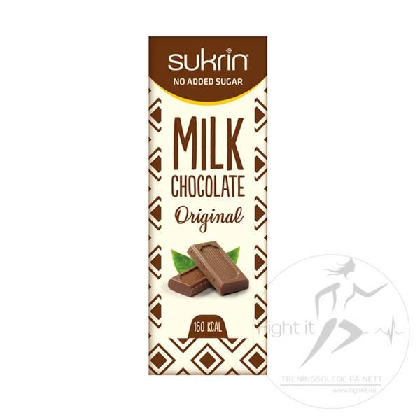 Bilde av Sukrin Melkesjokolade - Mandler og Havsalt 40g