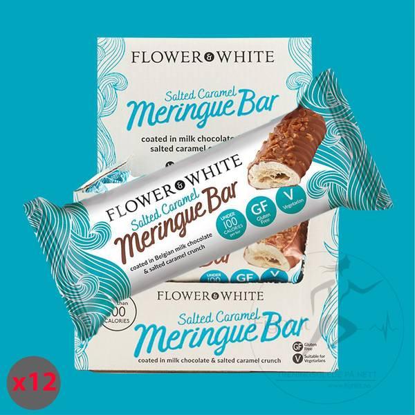 Bilde av Flower & White - Salted Caramel Meringue Bar (12x23,5g)