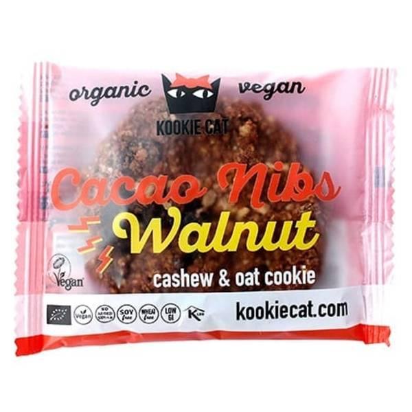 Bilde av Kookie Cat - Cacao Nibs Walnut Sjokoladekjeks 50g