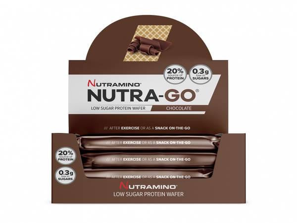 Bilde av Nutramino Nutra-GO Protein Wafer - Chocolate (12x39g)