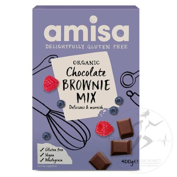 Bilde av Amisa Organic Chocolate Brownie Mix 400g