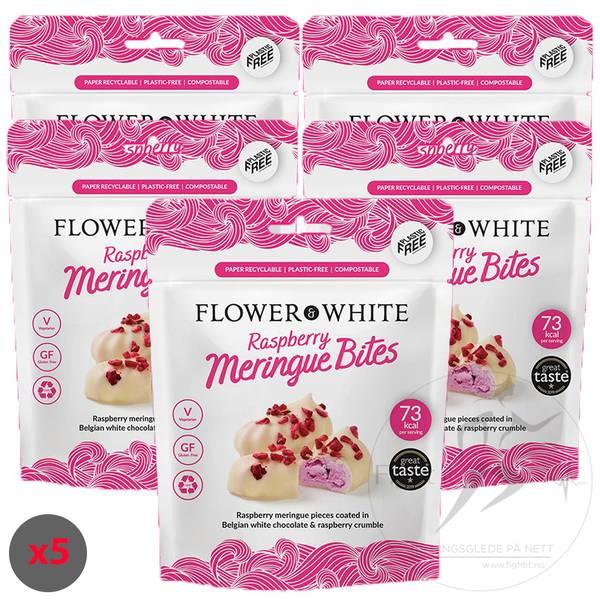 Bilde av Flower & White - Raspberry Meringue Bites (5x75g)