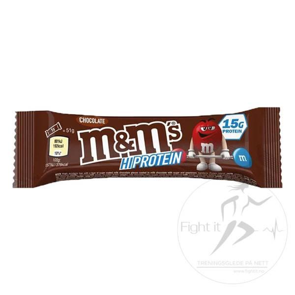 Bilde av M&M - HI  Protein - Chocolate (12x51g)