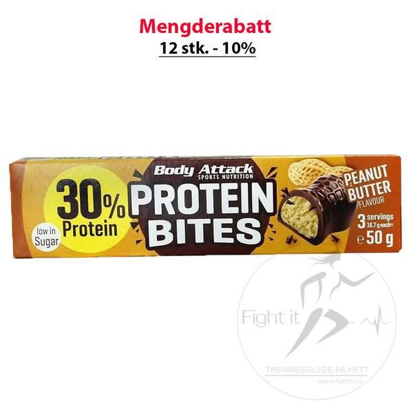 Bilde av Body Attack - Protein Bites Peanut Butter 50g