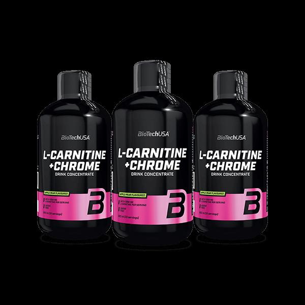 Bilde av BioTechUSA - L-Carnitine+ Chrome 3-Pack