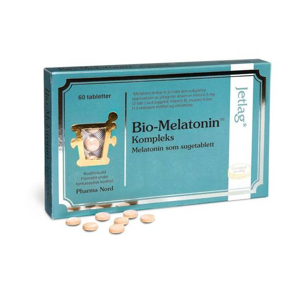 Bilde av Pharma Nord - Bio-Melatonin Jetlag 0,3mg - 60 tabletter