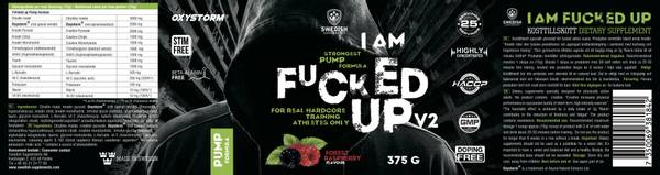 Bilde av Swedish Supplements - Fucked Up - Pump V2 375g