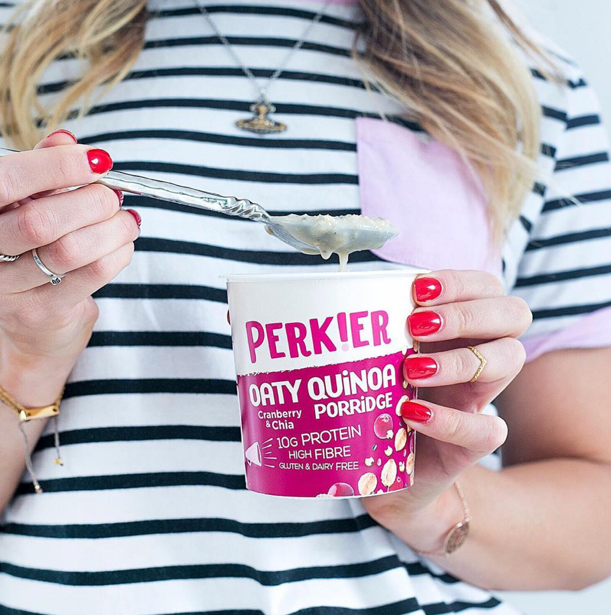 Perkier Havregrøt - Quinoa & Tranebær 55g