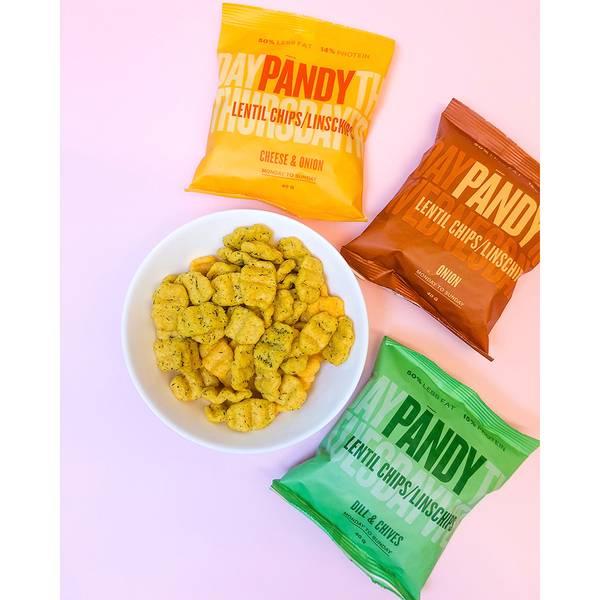 Bilde av Pandy Protein Chips - Cheese Onion 40g