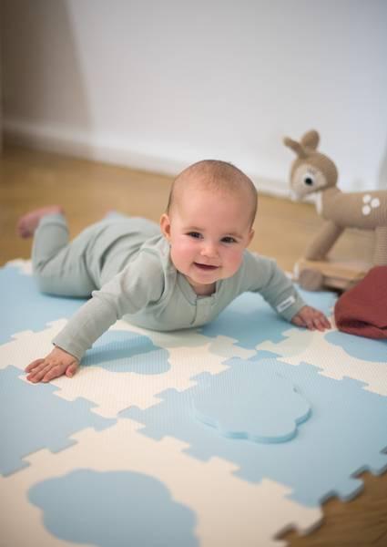 Bilde av Abilica - BabyMat Puzzle - Blå/Sand