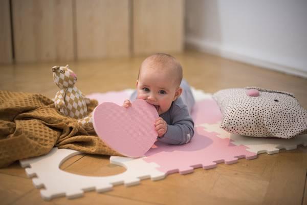Bilde av Abilica - BabyMat Puzzle - Rosa/Sand