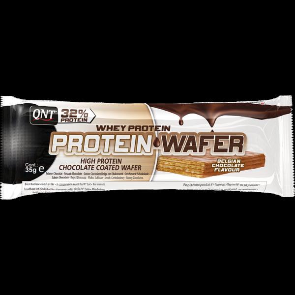Bilde av QNT - Whey Protein Wafer - Belgian Chocolate Flavour (12x35g)