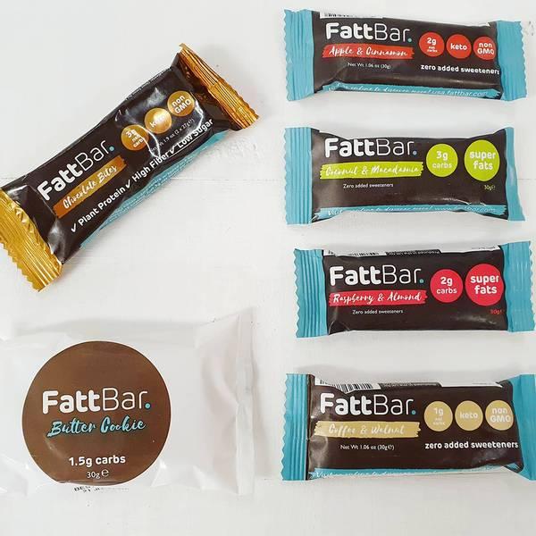Bilde av FattBar Energibar - Coffee & Walnut 30g (Datovare)